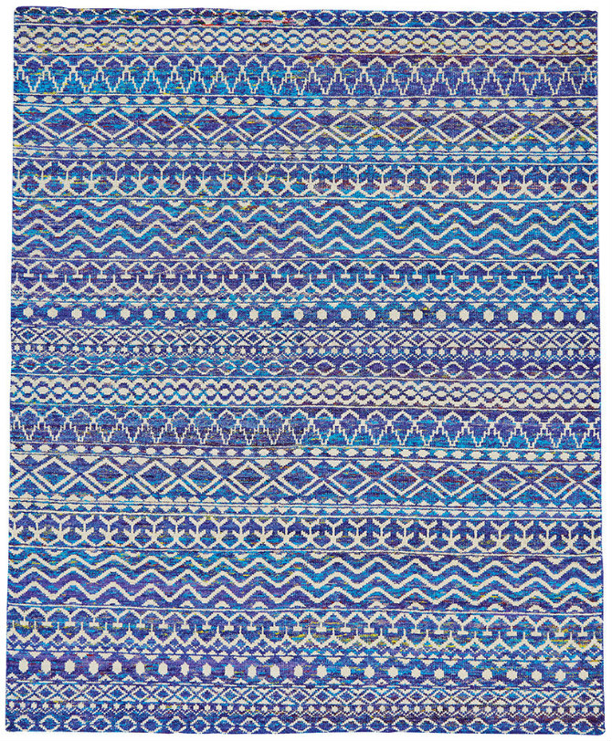 Tribal Rug in Hydrangea design by BD Fine stylish rugs Stylish rugs for an instant refresh Tribal Rug in Hydrangea design by BD Fine