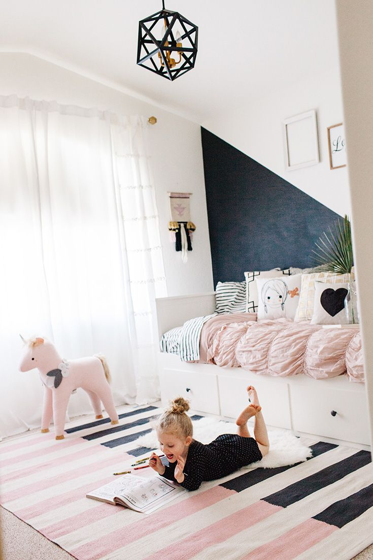 Pink Black And White Rug Rugs For Kid S Rooms